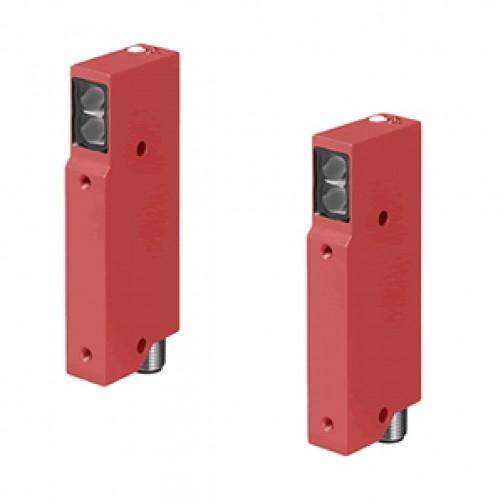 Оптические датчики Leuze Electronic в раздельном прямоугольном корпусе серии 72 приемник-передатчик
